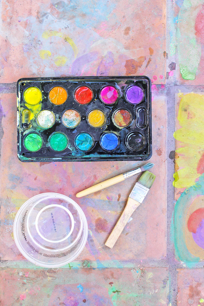 Best ideas about Easy Art Ideas . Save or Pin Easy Art Ideas for Kids Watercolor on Tile Babble Dabble Do Now.