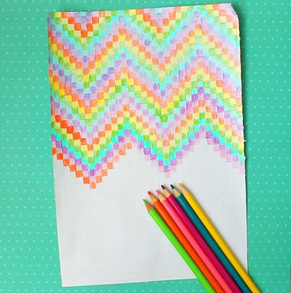 Best ideas about Easy Art Ideas . Save or Pin Easy Grid Graph Paper Art Design Ideas for Kids Now.