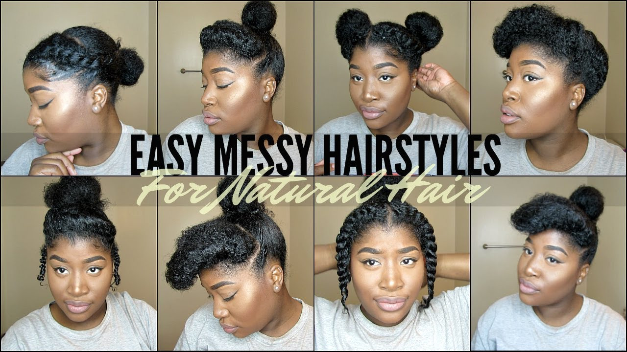 Best ideas about Easy Black Hairstyles For Medium Hair . Save or Pin 8 QUICK & EASY NATURAL HAIRSTYLES FOR 4 TYPE NATURAL HAIR Now.