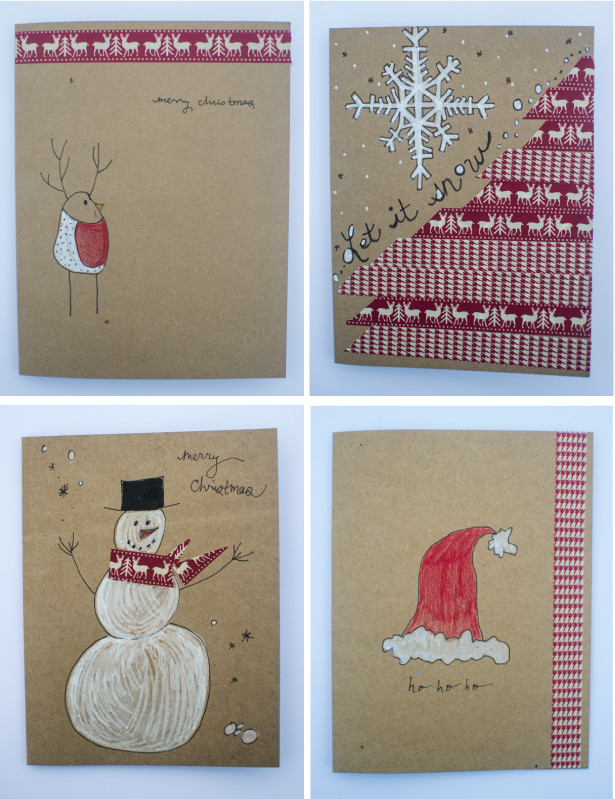 Best ideas about Easy DIY Christmas Cards . Save or Pin Frugal Holidays easy DIY washi tape Christmas cards Now.