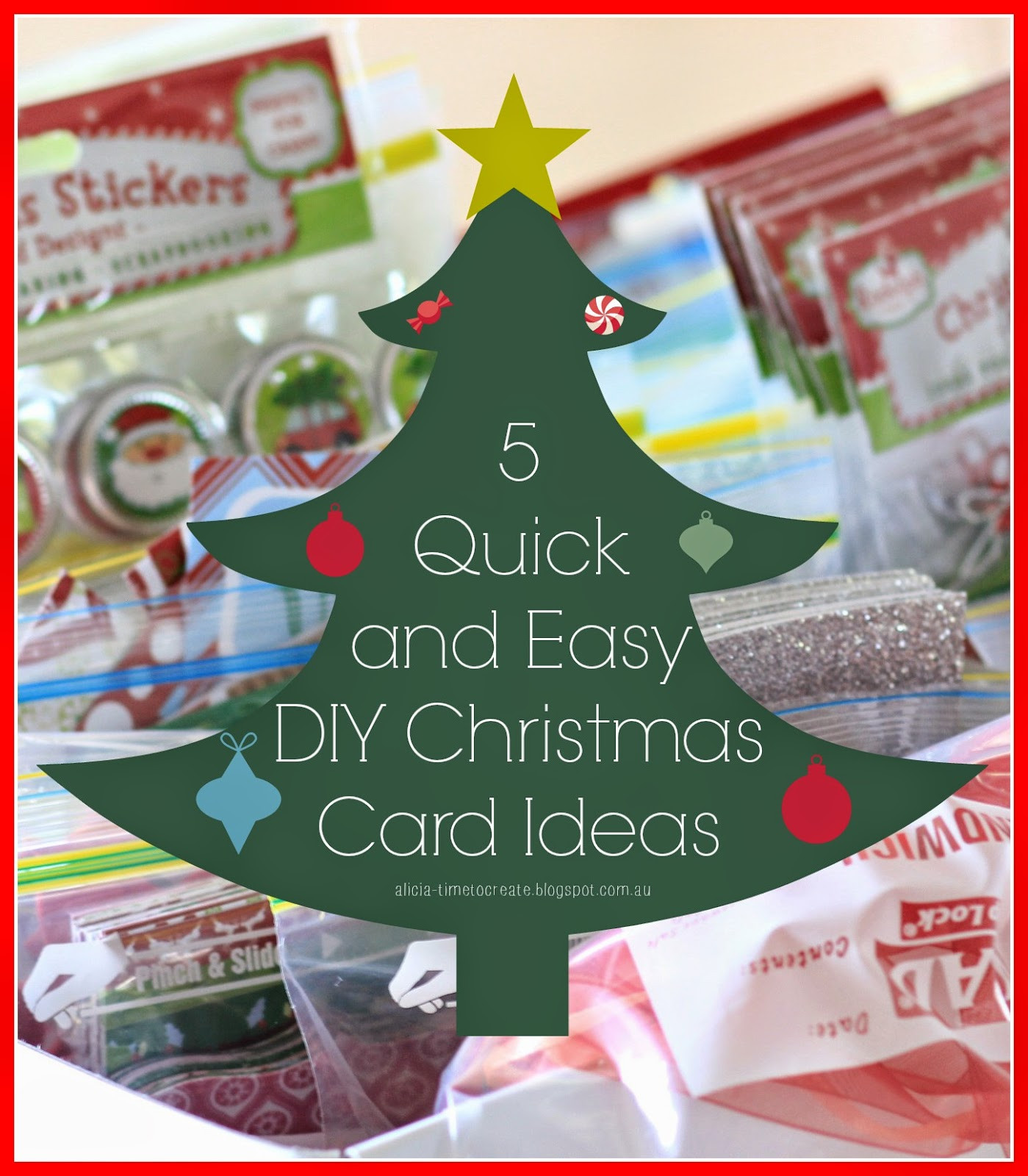 Best ideas about Easy DIY Christmas Cards . Save or Pin Time to Create 5 Quick and Easy DIY Christmas Card Ideas Now.