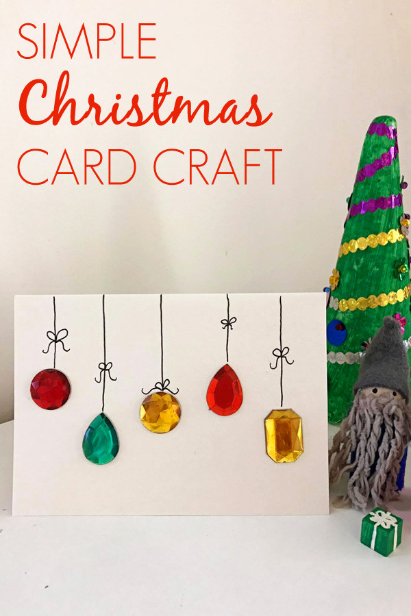 Best ideas about Easy DIY Christmas Cards . Save or Pin Easy DIY Christmas Card Craft Now.