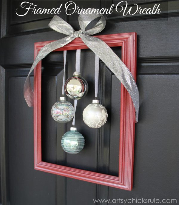 Best ideas about Easy DIY Christmas Wreaths . Save or Pin DIY Holiday Framed Ornament Wreath Wel e Home Tour Now.