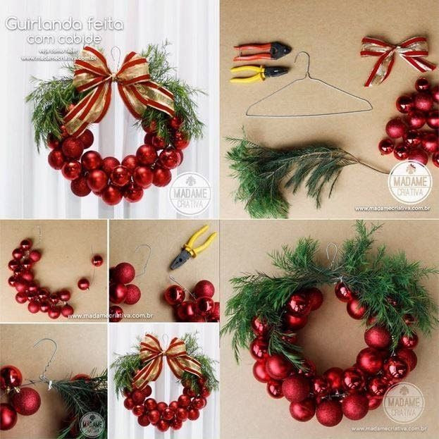 Best ideas about Easy DIY Christmas Wreaths . Save or Pin DIY Easy Christmas Wreath s and for Now.