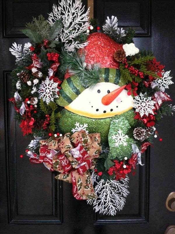 Best ideas about Easy DIY Christmas Wreaths . Save or Pin Snowman wreath ideas – how to make a gorgeous Christmas wreath Now.