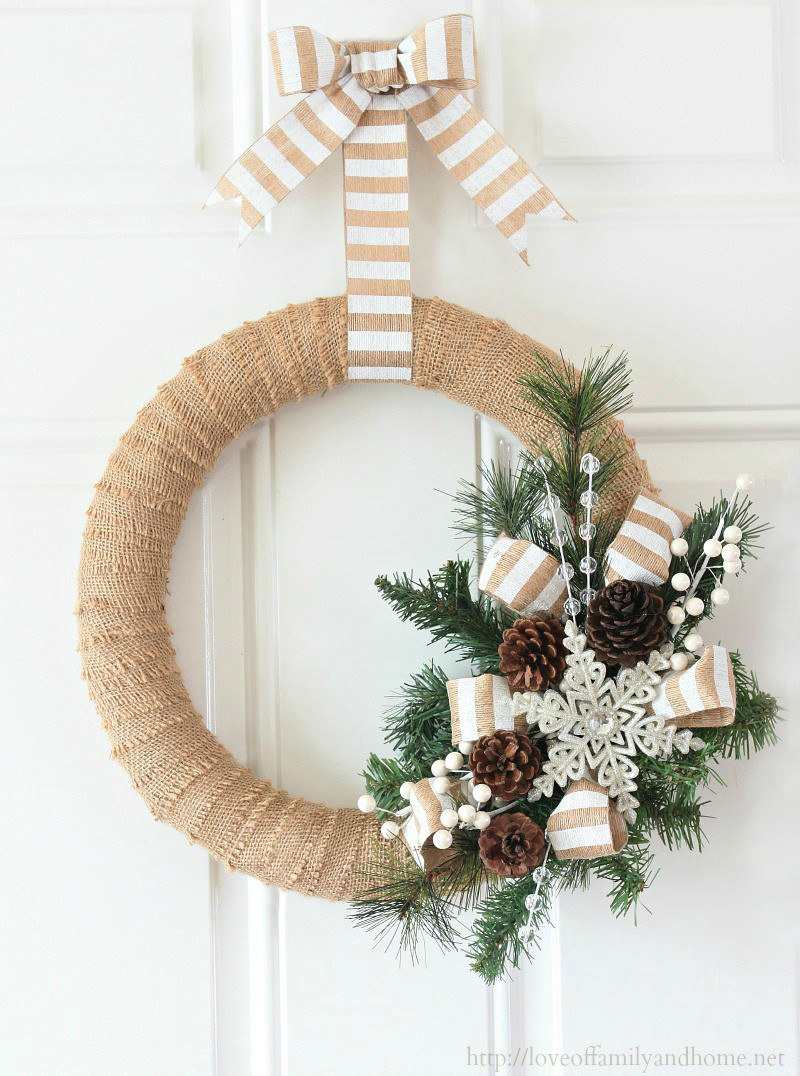 Best ideas about Easy DIY Christmas Wreaths . Save or Pin 12 Modern Wreaths To Make This Christmas Now.