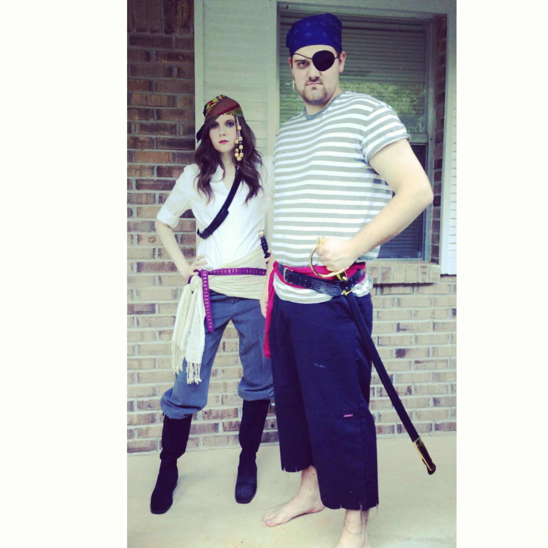 Best ideas about Easy DIY Pirate Costumes . Save or Pin DIY pirate costumes my bestie in the photo with her man Now.
