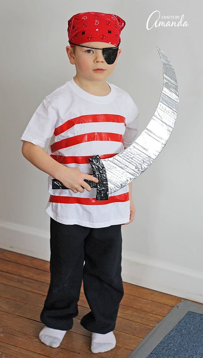 Best ideas about Easy DIY Pirate Costumes . Save or Pin Pirate Costume Make your own Halloween costume from duct tape Now.