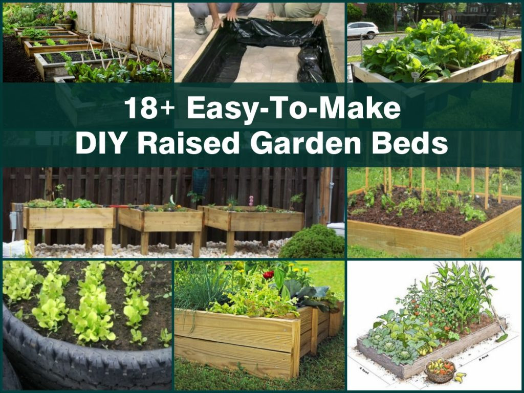 Best ideas about Easy DIY Raised Garden Bed . Save or Pin 18 Easy To Make DIY Raised Garden Beds Now.