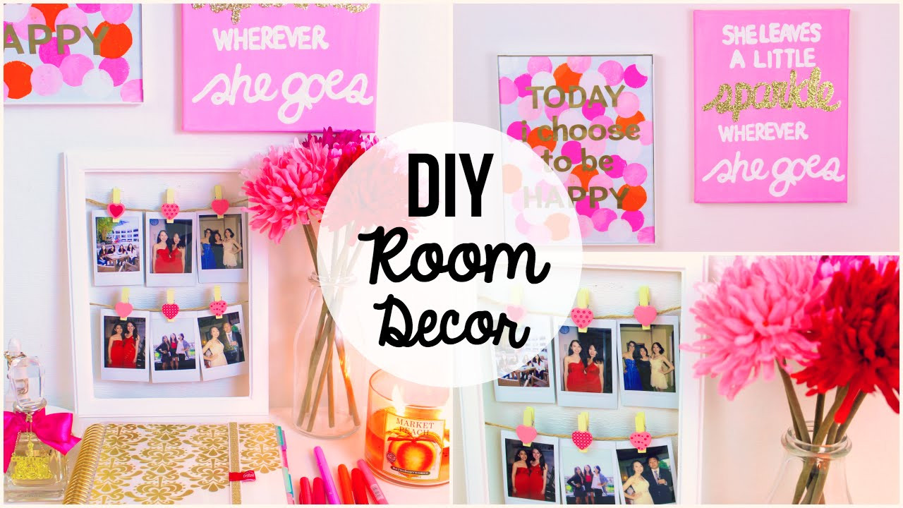 Best ideas about Easy DIY Room Decor . Save or Pin DIY Room Decor 2015 ♡ 3 Easy & Simple Wall Art Ideas Now.