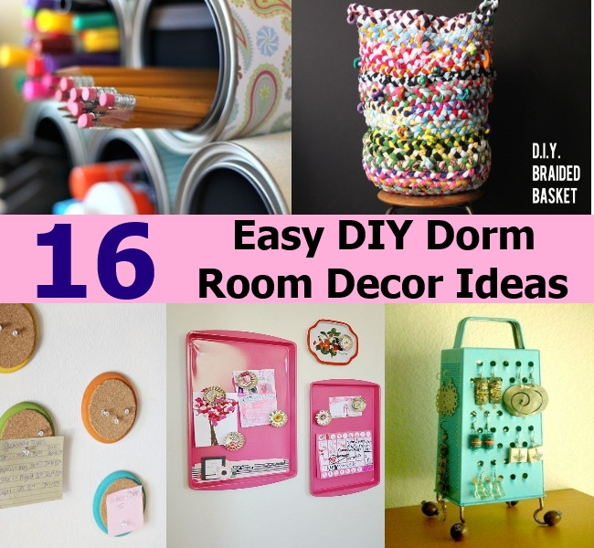 Best ideas about Easy DIY Room Decor . Save or Pin 16 Easy DIY Dorm Room Decor Ideas Now.
