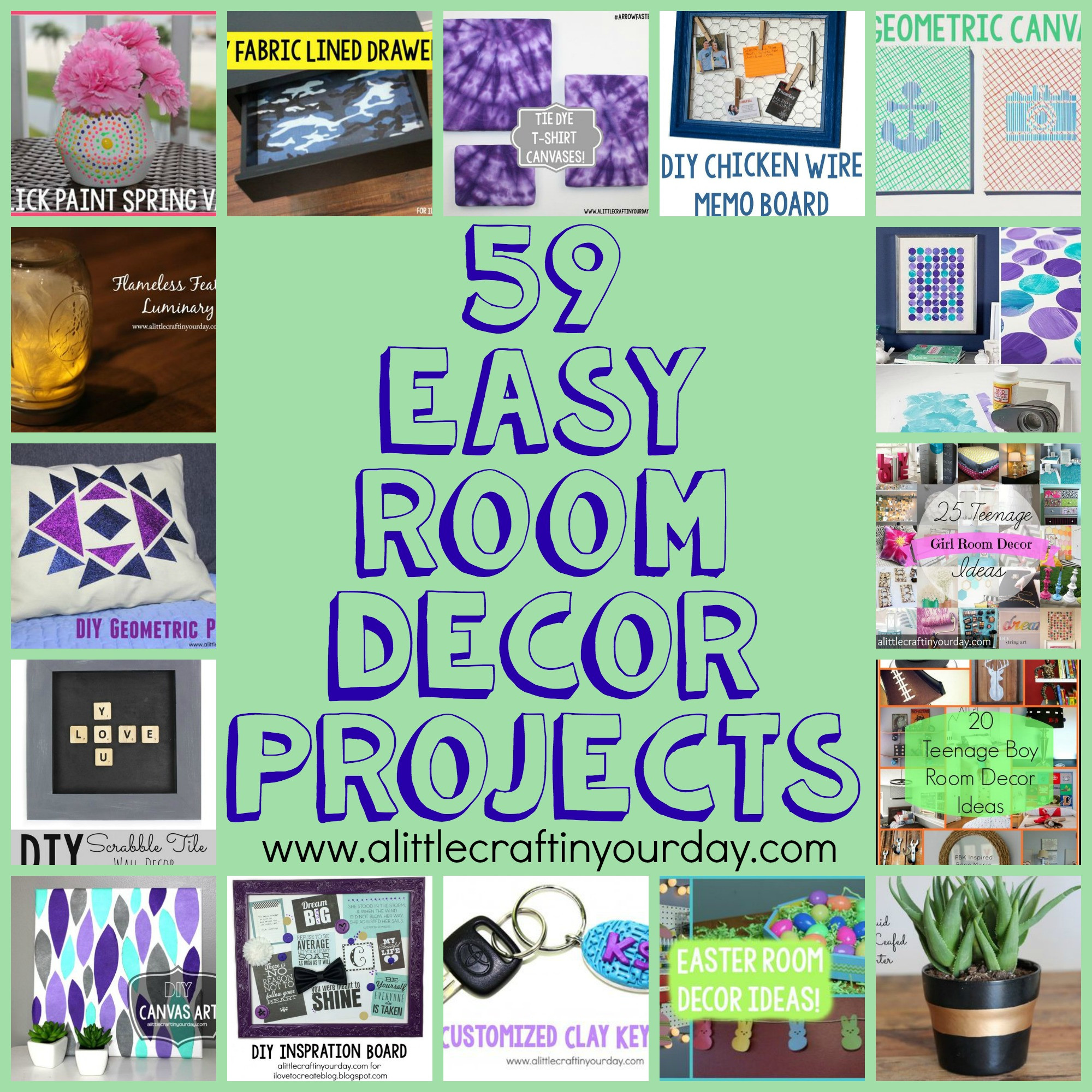 Best ideas about Easy DIY Room Decor . Save or Pin 59 Easy DIY Room Decor Projects A Little Craft In Your Day Now.