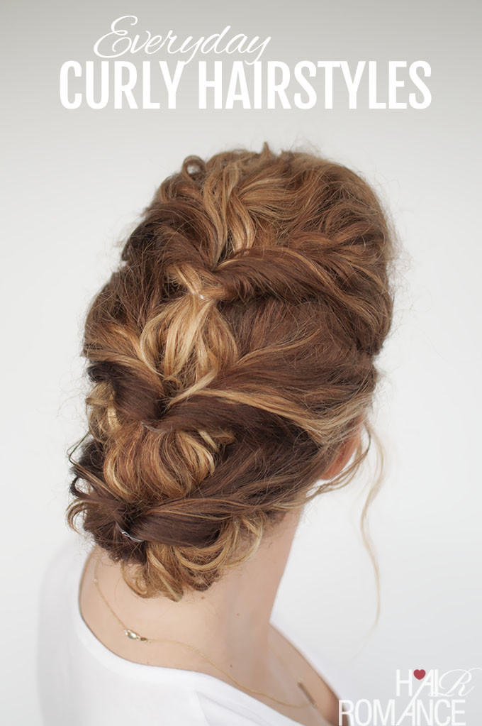 Best ideas about Easy Everyday Hairstyle . Save or Pin Easy everyday curly hairstyle tutorial The curly twist Now.
