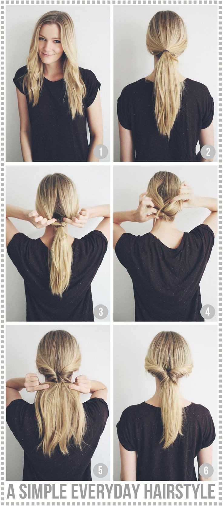 Best ideas about Easy Everyday Hairstyle . Save or Pin A simple everyday hairstyle Passions for Fashion Now.