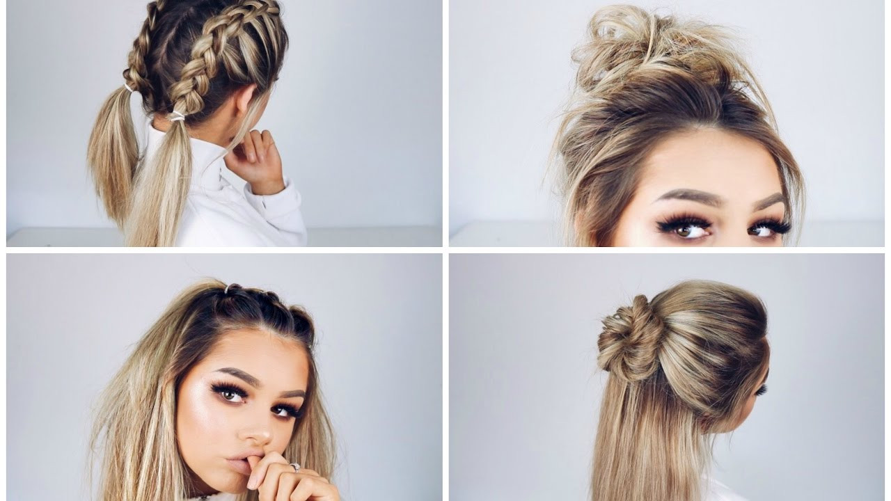 Best ideas about Easy Hairstyle Video . Save or Pin QUICK AND EASY HAIRSTYLES Now.