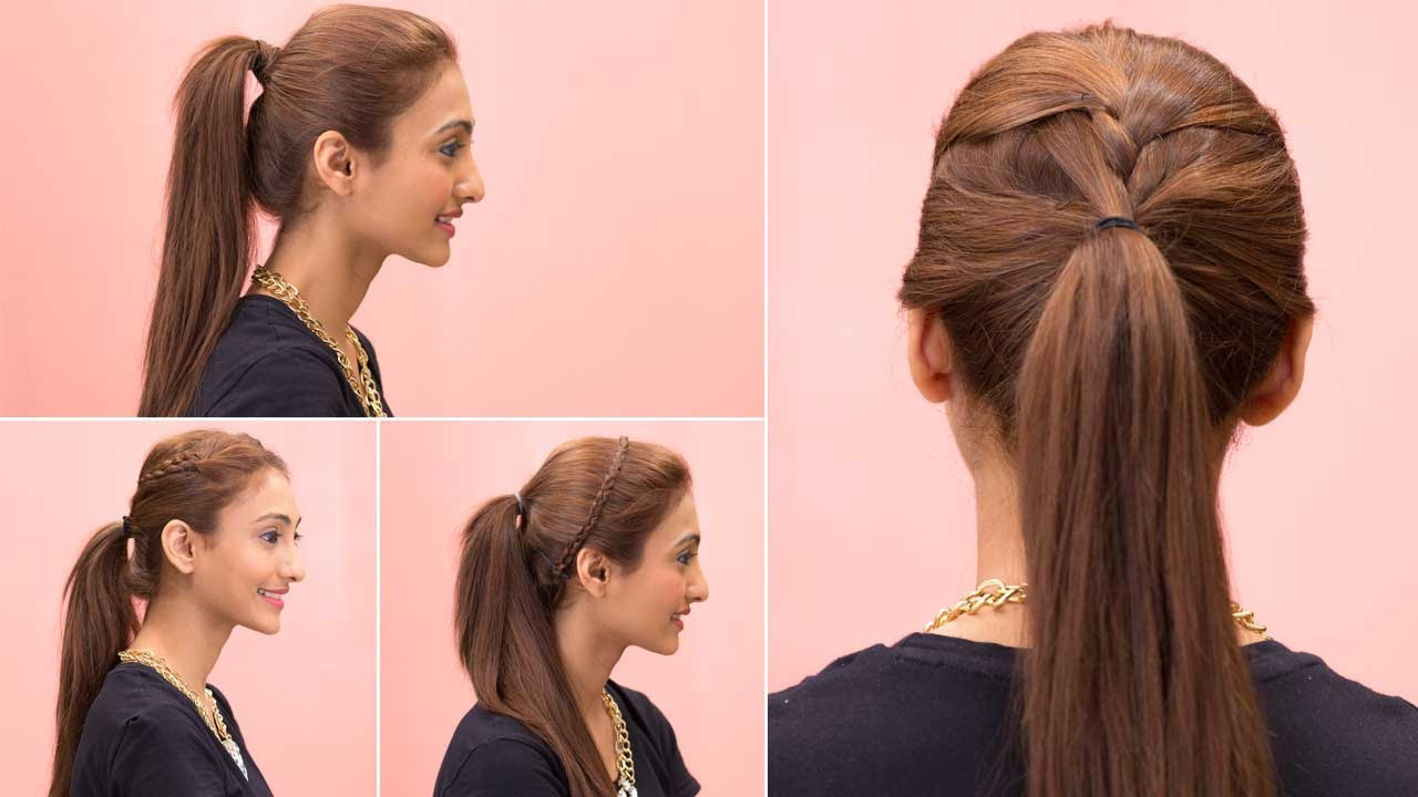 Best ideas about Easy Hairstyle Video . Save or Pin 4 Easy Ponytail Hairstyles Quick & Easy Girls Hairstyles Now.