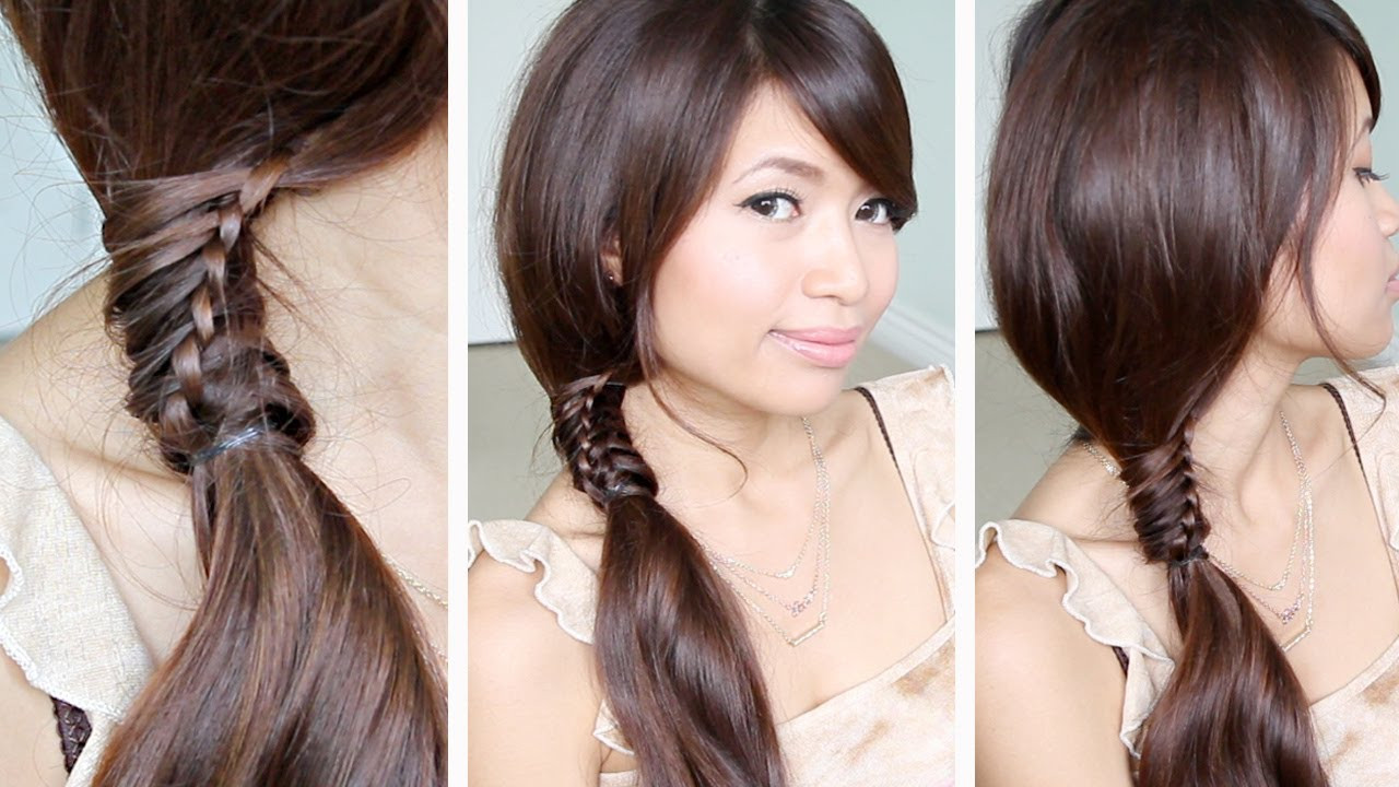 Best ideas about Easy Hairstyle Video . Save or Pin Chinese Staircase Braid Ponytail Hairstyle for Medium Long Now.