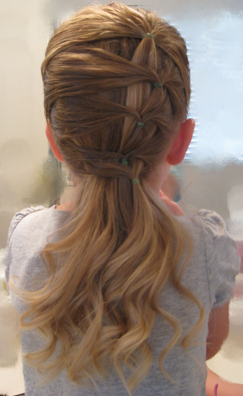 Best ideas about Easy Hairstyle Video . Save or Pin A Fancy Row of Ponytails Babes In Hairland Now.