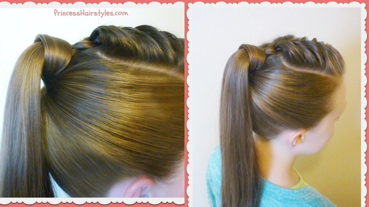Best ideas about Easy Hairstyle Video . Save or Pin The Best Hair Wrapped Ponytail Easy Hairstyle Tutorial Now.
