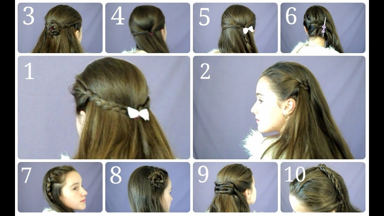 Best ideas about Easy Hairstyle Video . Save or Pin 10 Easy & Simple Half Up Hairstyles for Everyday Now.