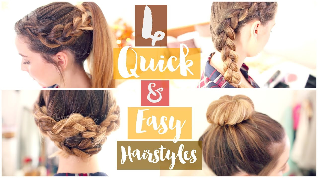 Best ideas about Easy Hairstyle Video . Save or Pin How To 4 Quick & Easy Hairstyles Now.