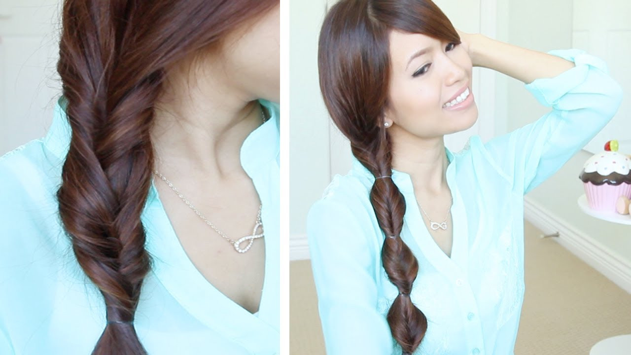 Best ideas about Easy Hairstyle Video . Save or Pin Quick & Easy Faux Braid Hairstyles for Medium Long Hair Now.