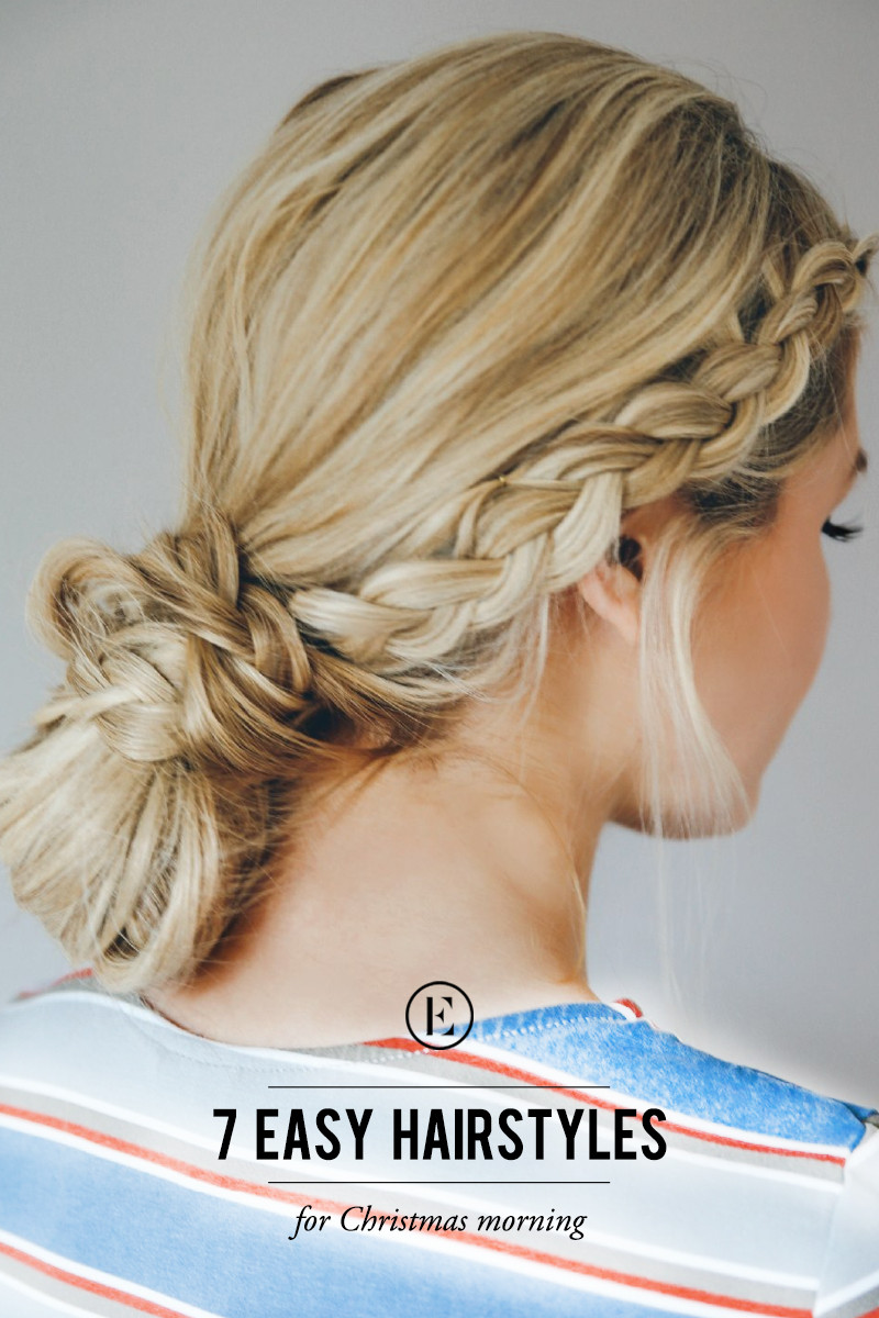 Best ideas about Easy Hairstyle Video . Save or Pin 7 Easy Hairstyles for Christmas Morning The Everygirl Now.
