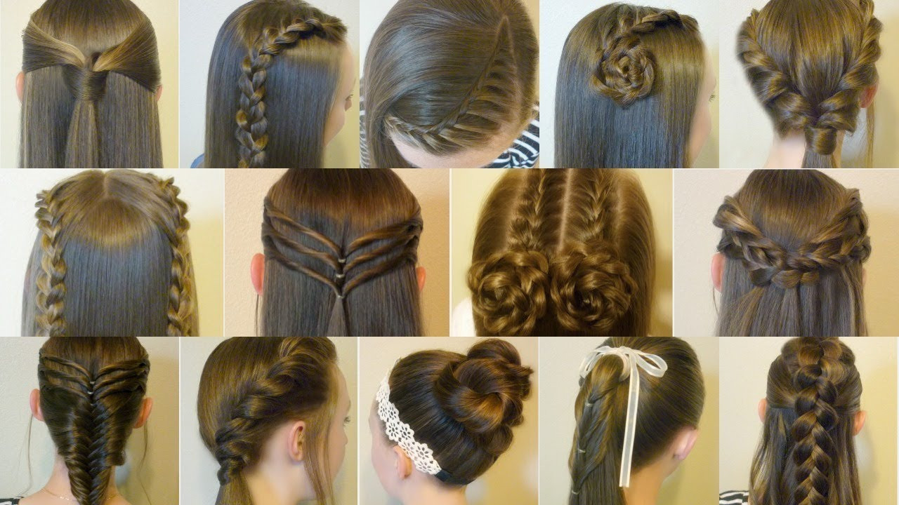 Best ideas about Easy Hairstyle Video . Save or Pin 14 Easy Hairstyles For School pilation 2 Weeks Now.