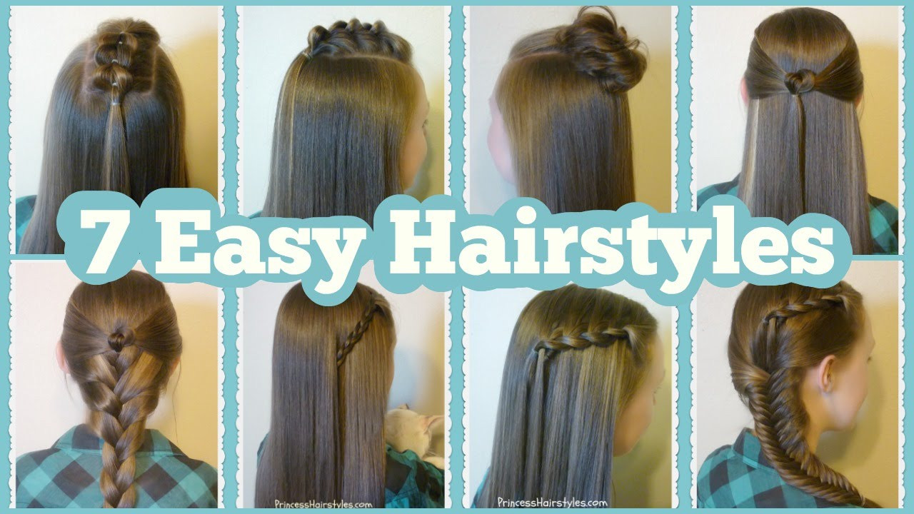 Best ideas about Easy Hairstyle Video . Save or Pin 7 Quick And Easy Hairstyles For School Now.