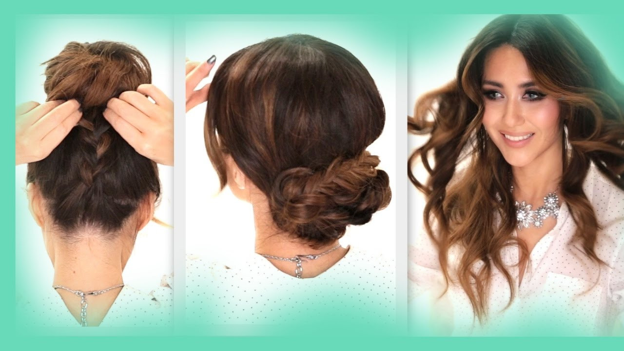 Best ideas about Easy Hairstyle Video . Save or Pin 3 EASY HAIRSTYLES Now.