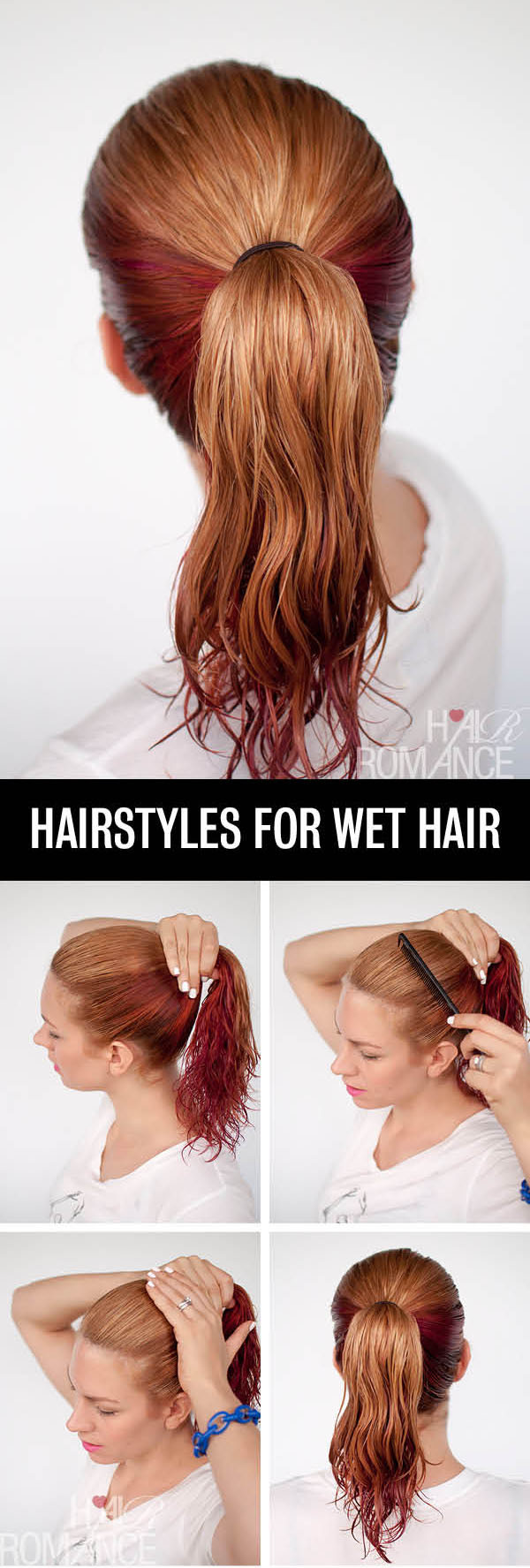Best ideas about Easy Hairstyles For Wet Hair . Save or Pin ピンク·オレンジジュース GET READY FAST WITH 7 EASY HAIRSTYLE Now.