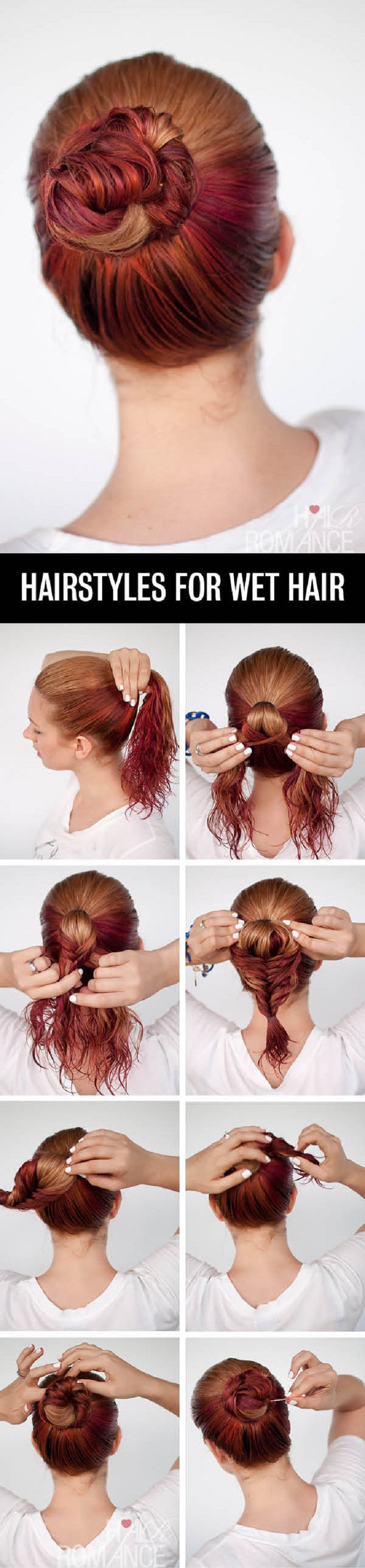 Best ideas about Easy Hairstyles For Wet Hair . Save or Pin Top 10 Fast Hairstyles For Wet Hair Top Inspired Now.