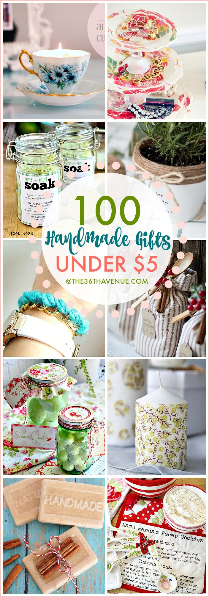 Best ideas about Easy Homemade Gift Ideas . Save or Pin 100 Handmade Gifts Under Five Dollars The 36th AVENUE Now.