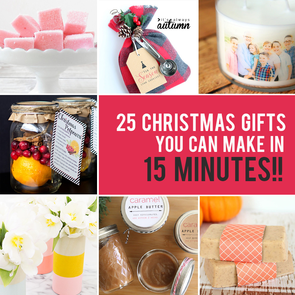 Best ideas about Easy Homemade Gift Ideas . Save or Pin 25 easy homemade Christmas ts you can make in 15 Now.