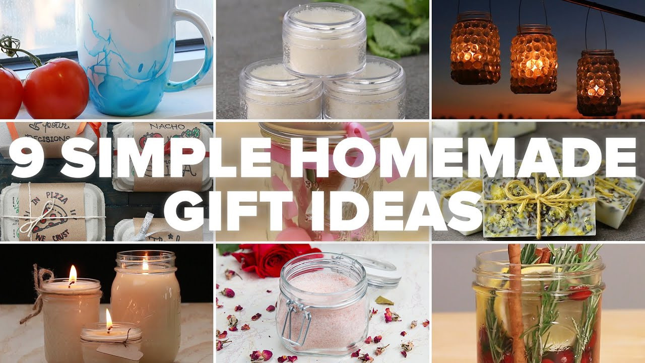 Best ideas about Easy Homemade Gift Ideas . Save or Pin 9 Simple Homemade Gift Ideas Now.