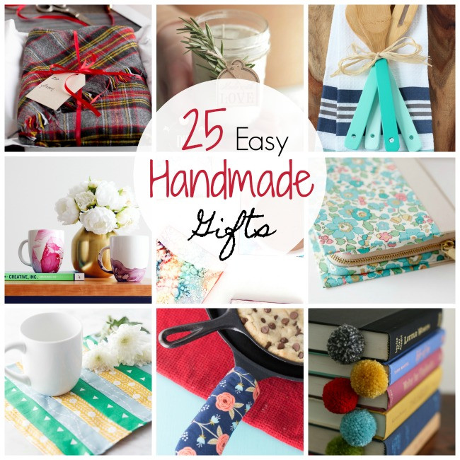 Best ideas about Easy Homemade Gift Ideas . Save or Pin 25 Quick and Easy Homemade Gift Ideas Crazy Little Projects Now.