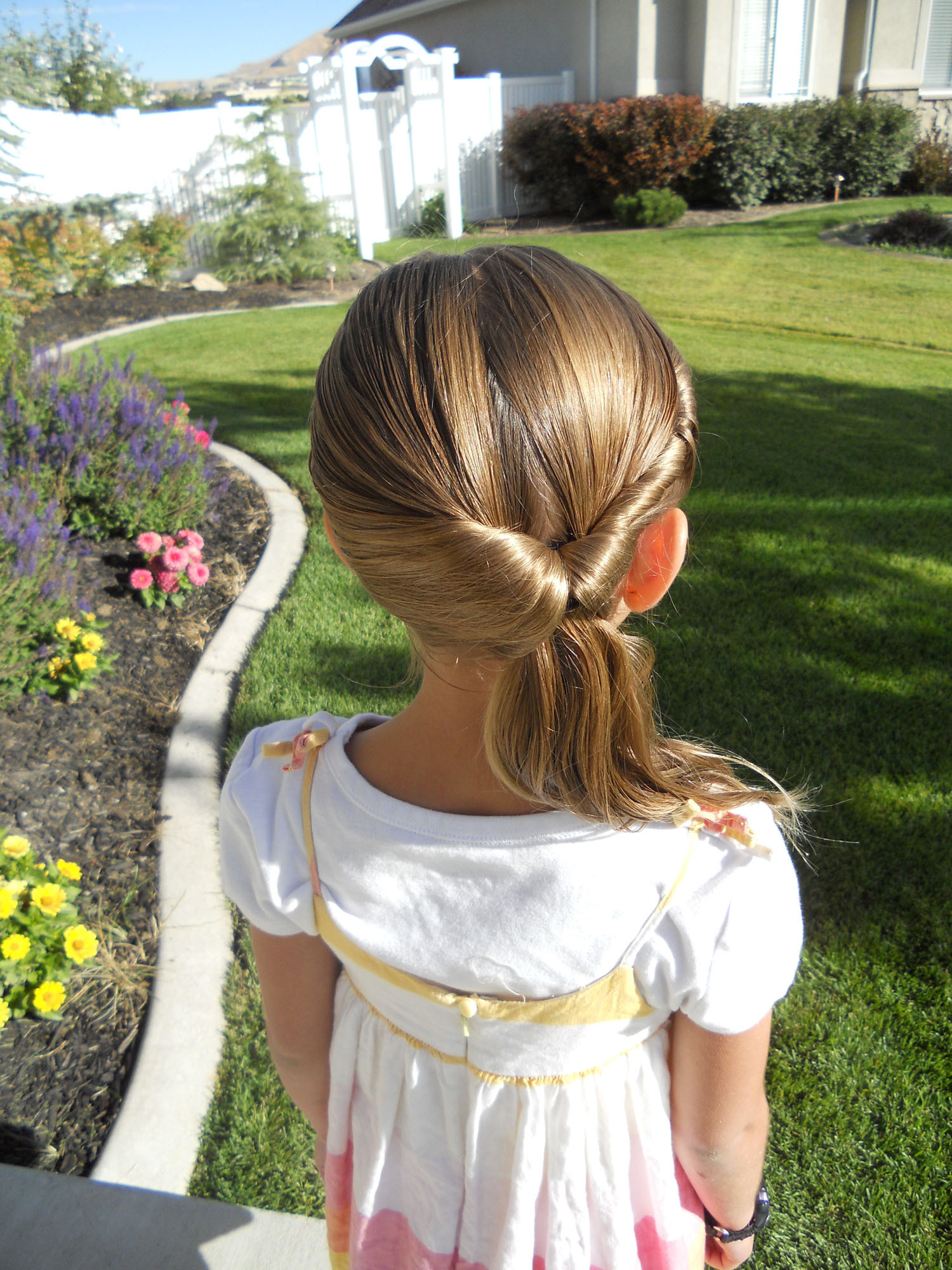 Best ideas about Easy Little Girl Hairstyles . Save or Pin Cute Twistback Flip Under Girls Hairstyles Now.