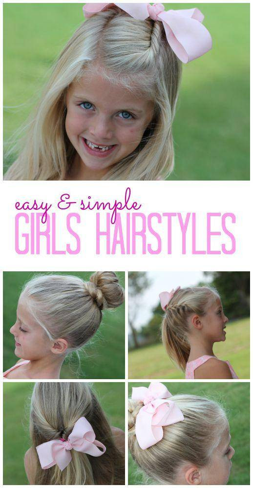 Best ideas about Easy Little Girl Hairstyles . Save or Pin Easy Girls Hairstyles for Back to School Now.
