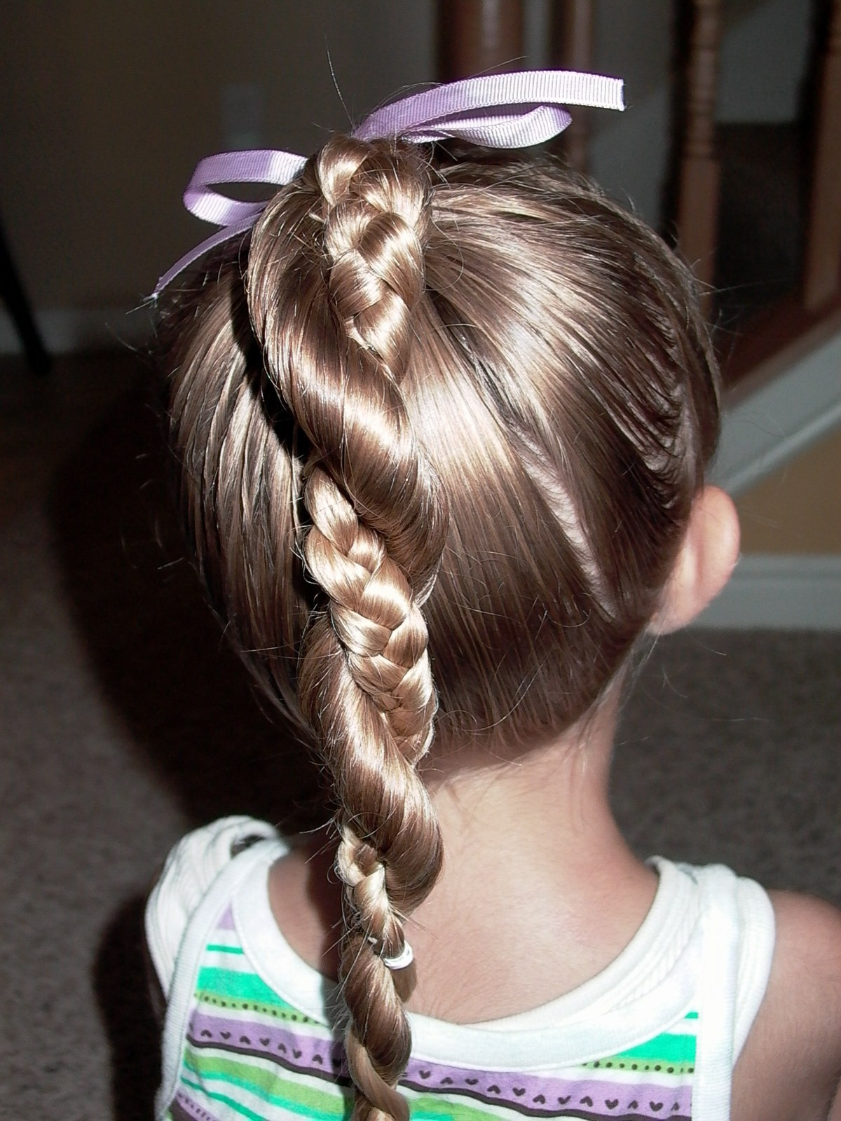 Best ideas about Easy Little Girl Hairstyles . Save or Pin Little Girl s Hairstyles Easy Twist Around Braided Now.