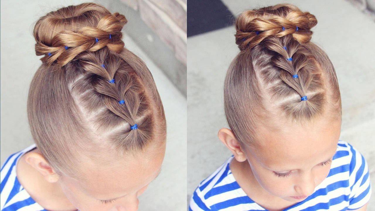 Best ideas about Easy Little Girl Hairstyles . Save or Pin How to Pull Through Bun Hairstyle Now.