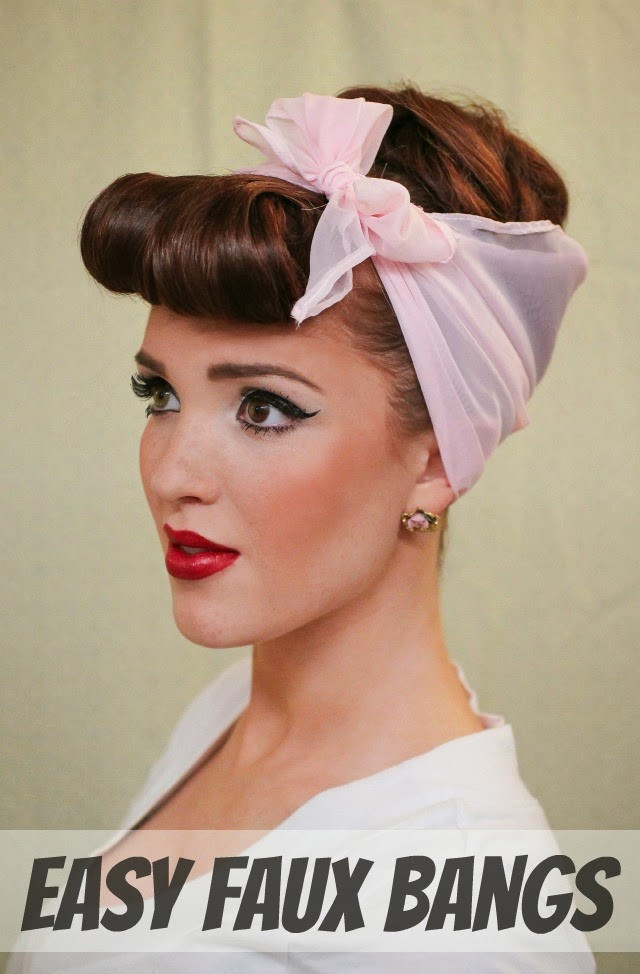 Best ideas about Easy Pinup Hairstyles . Save or Pin The Freckled Fox Modern Pin up Week 4 Easy Faux Bangs Now.