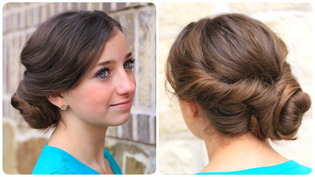 Best ideas about Easy Pretty Hairstyles . Save or Pin Easy Twist Updo Prom Hairstyles Now.