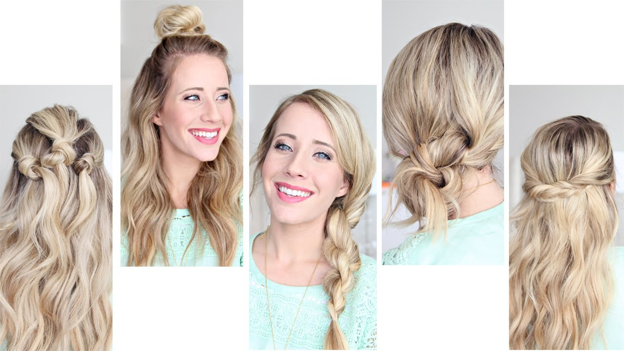 Best ideas about Easy Pretty Hairstyles . Save or Pin Five Easy 1 min Hairstyles Now.