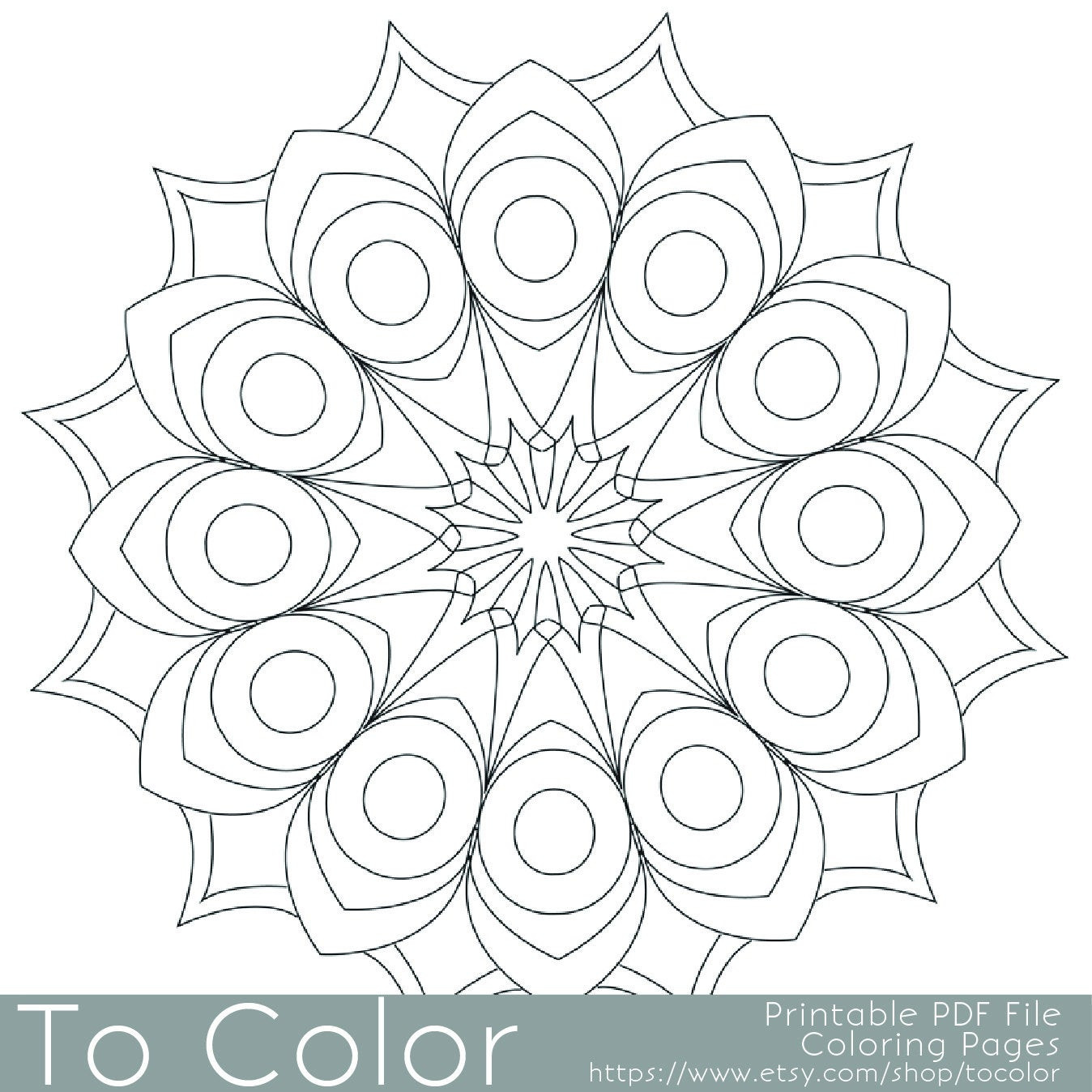 Best ideas about Easy Printable Coloring Pages For Adults . Save or Pin Printable Circular Mandala Easy Coloring Pages for Adults Big Now.