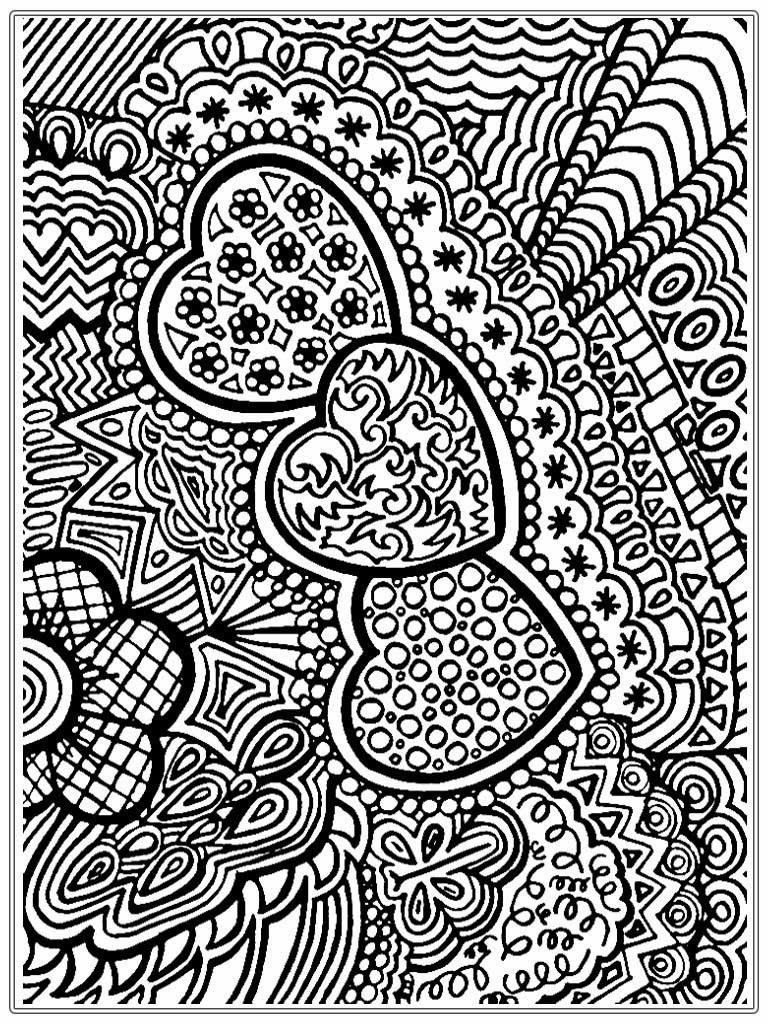 Best ideas about Easy Printable Coloring Pages For Adults . Save or Pin Heart To Color For Adult Now.