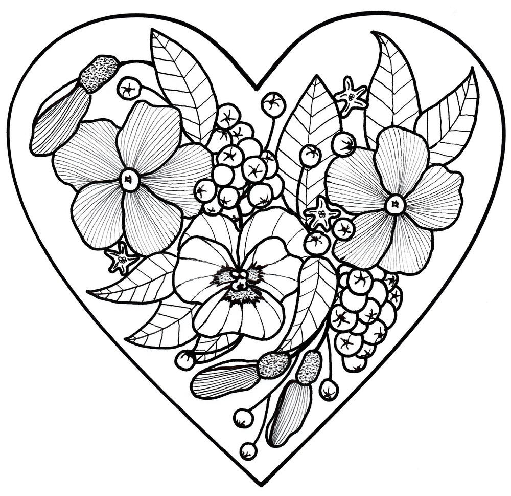 Best ideas about Easy Printable Coloring Pages For Adults . Save or Pin All My Love Adult Coloring Page Now.