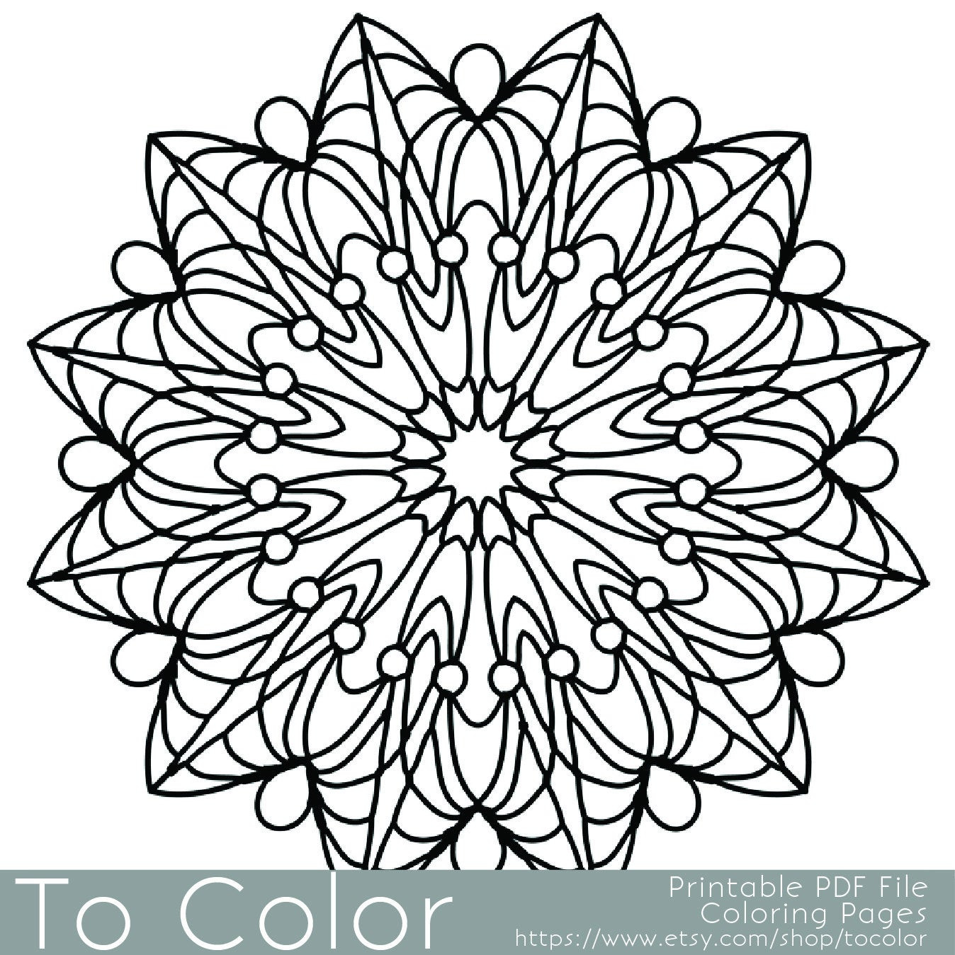 Best ideas about Easy Printable Coloring Pages For Adults . Save or Pin Simple Printable Coloring Pages for Adults Gel Pens Mandala Now.