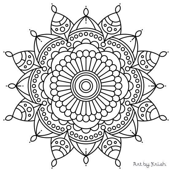 Best ideas about Easy Printable Coloring Pages For Adults . Save or Pin 106 Printable Intricate Mandala Coloring Pages by Now.