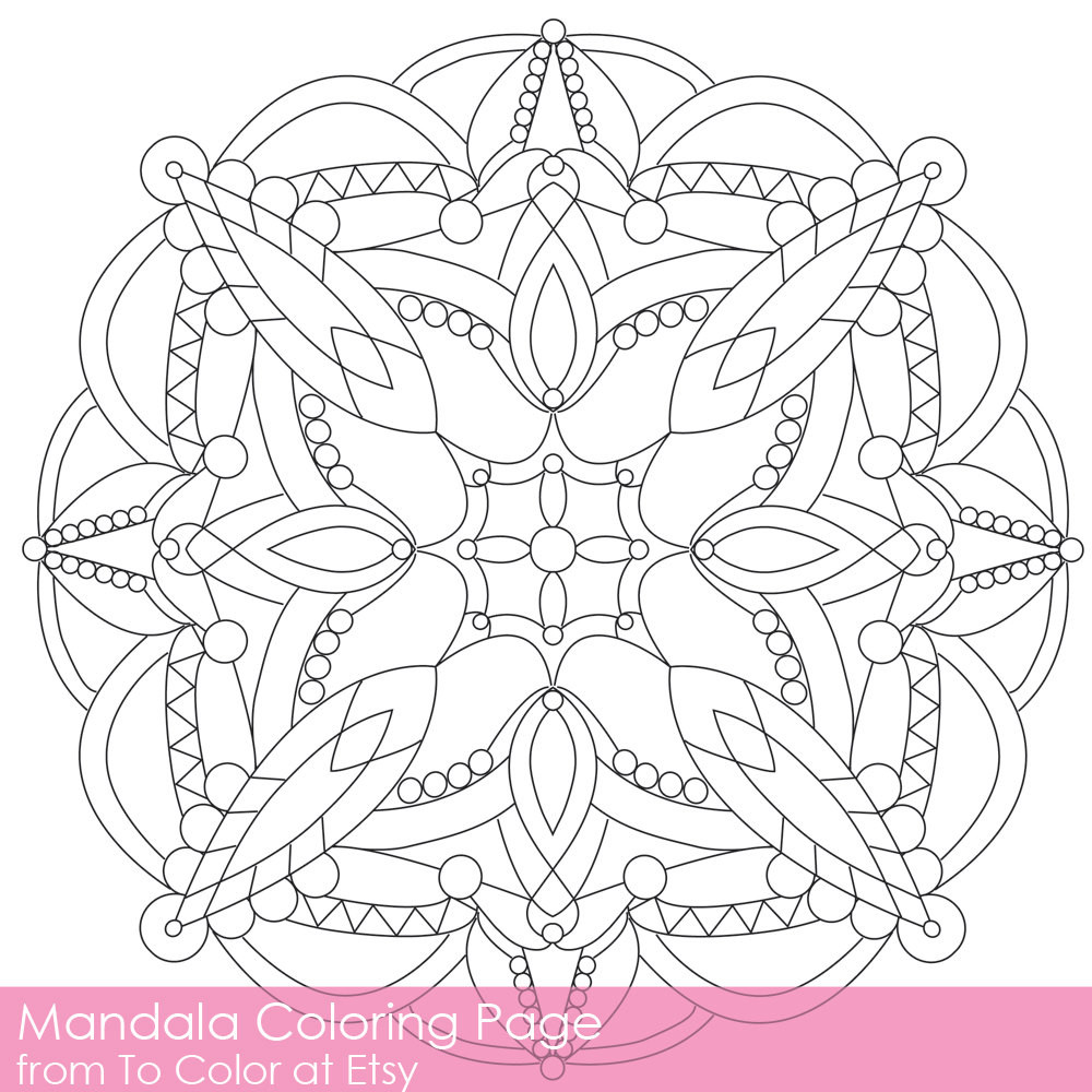 Best ideas about Easy Printable Coloring Pages For Adults . Save or Pin Simple Printable Coloring Pages for Adults Gel Pens by ToColor Now.