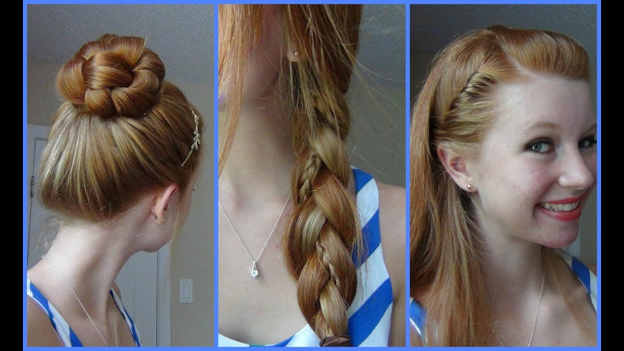 Best ideas about Easy School Hairstyles . Save or Pin 3 Simple Quick and Easy Back to School Hairstyles Now.